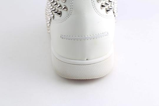 Christian Louboutin White Louis Spike Shoes Image 9