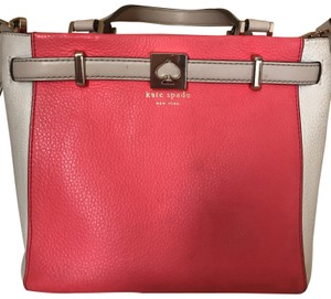 Kate Spade pink and white Messenger Bag