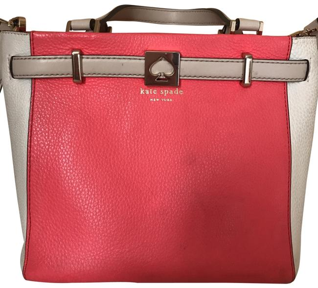 Item - Houston Street Color Body Cross Pink and White Leather Messenger Bag