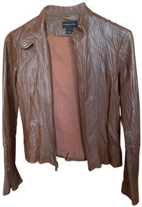 Bagatelle Moto brown Leather Jacket