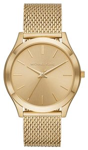 Michael Kors Micheal Kors Oversized Slim Runway Gold-Tone Mesh Watch