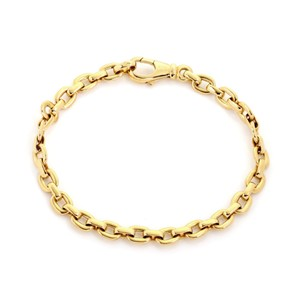 Cartier Flat Oval 18k Yellow Gold 5mm Wide Link Bracelet