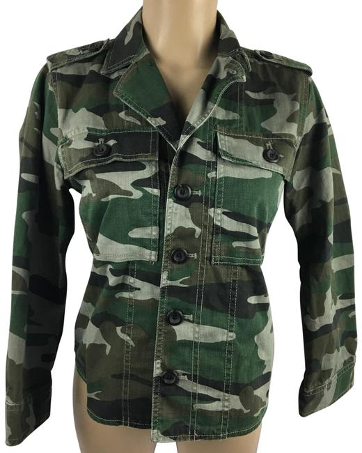Item - Green Camouflage Jacket Size Petite 6 (S)