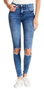 Free People Distressed High Rise Skinny Jeans-Distressed