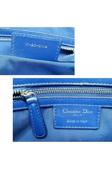Dior Granville Cannage Lambskin Medium Tote in Royal Blue Image 10