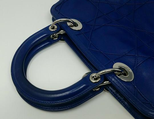 Dior Granville Cannage Lambskin Medium Tote in Royal Blue Image 5