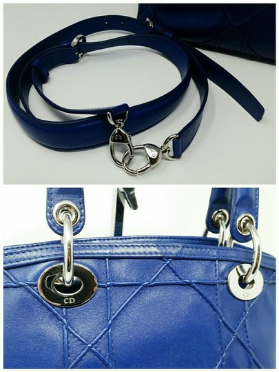 Dior Granville Cannage Lambskin Medium Tote in Royal Blue Image 6