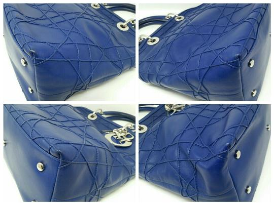 Dior Granville Cannage Lambskin Medium Tote in Royal Blue Image 7