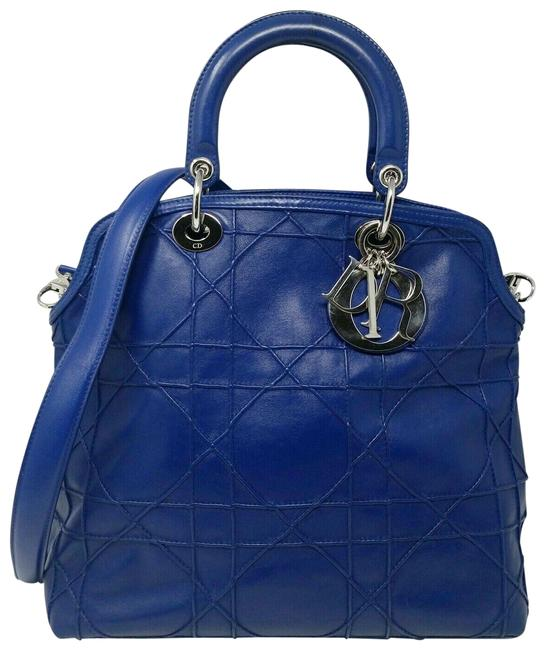 Item - Granville Cannage Large Royal Blue Lambskin Leather Tote