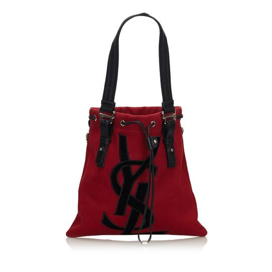 Preload https://img-static.tradesy.com/item/25754904/saint-laurent-bag-w-fabric-kahala-france-dust-large-red-canvas-leather-tote-0-0-540-540.jpg