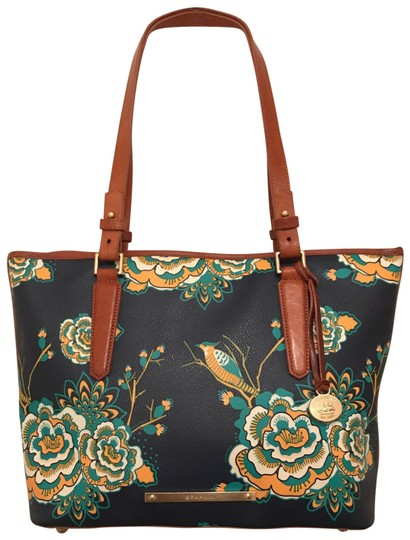 Preload https://img-static.tradesy.com/item/25754939/brahmin-medium-asher-floral-navy-blue-yellow-white-brown-multi-leather-tote-0-1-540-540.jpg