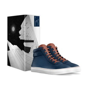 L. Che' with Alive Shoes Navy Blue, Brown Athletic