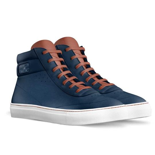 L. Che' with Alive Shoes Navy Blue, Brown Athletic Image 1