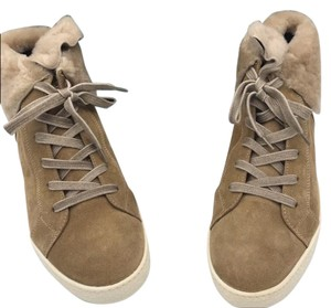 Paul Green Sporty Sneaker Suede Lace Up Brown, Nude, Beige Boots
