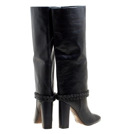 Tory Burch Leather Detail Blue Boots Image 2