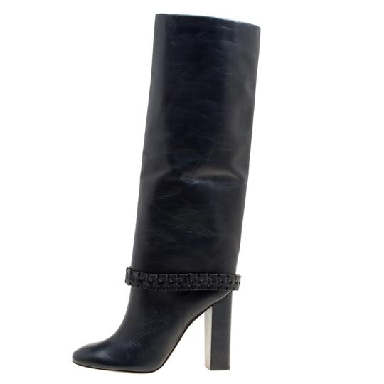 Tory Burch Leather Detail Blue Boots Image 5