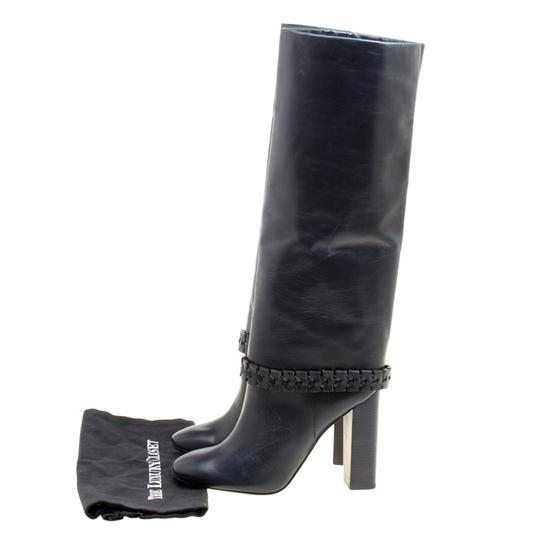 Tory Burch Leather Detail Blue Boots Image 7