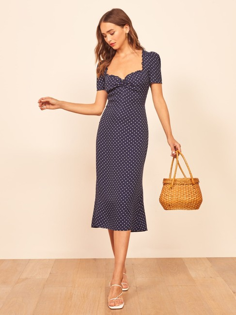 Reformation short dress Blue Polka Dot on Tradesy Image 1