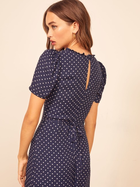 Reformation short dress Blue Polka Dot on Tradesy Image 4