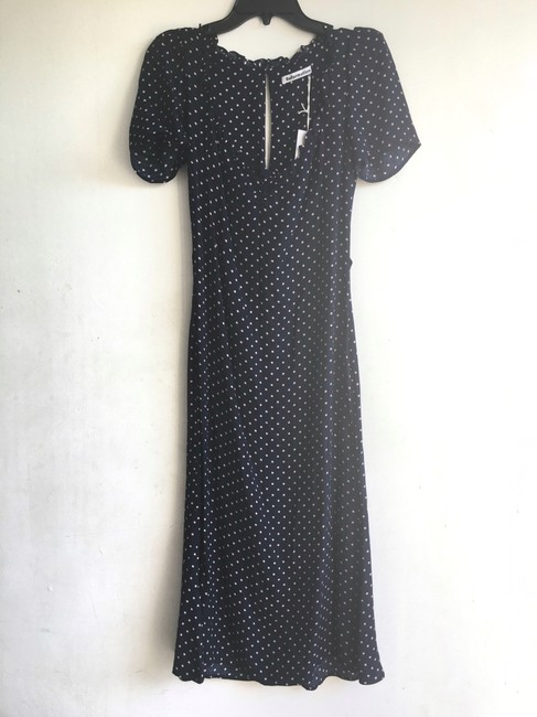 Reformation short dress Blue Polka Dot on Tradesy Image 5
