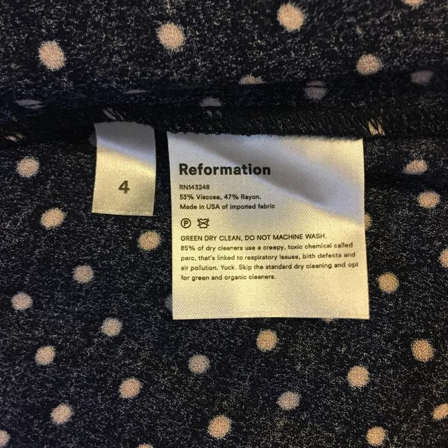 Reformation short dress Blue Polka Dot on Tradesy Image 8