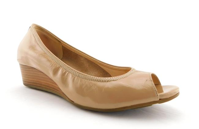 Item - Nude Nike Air Patent Leather Open Toe Wedges Size US 5.5 Regular (M, B)