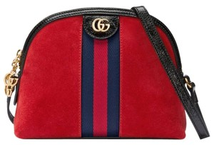 Gucci Double G Street Wear Leather Cross Body Bag