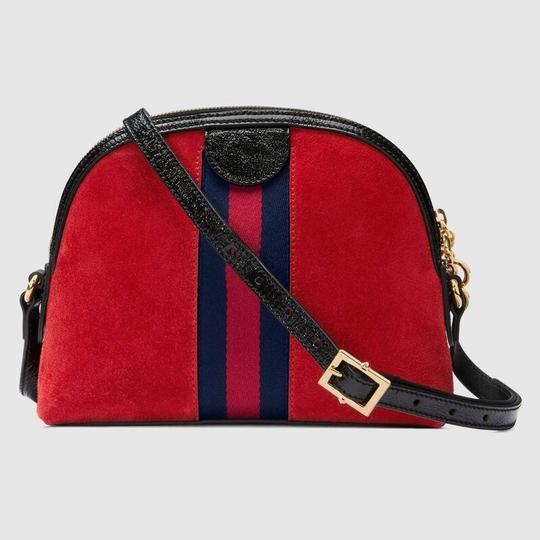 Gucci Double G Street Wear Leather Cross Body Bag Image 1