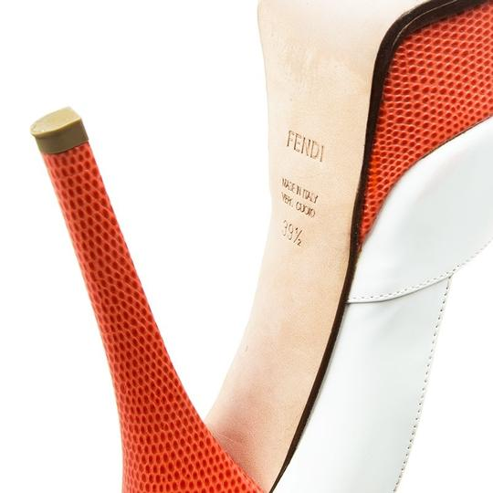 Fendi Two-tone Leather Peep Toe Platform Multicolor Pumps Image 6