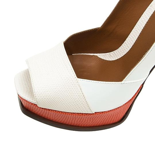 Fendi Two-tone Leather Peep Toe Platform Multicolor Pumps Image 9