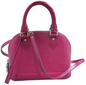 Louis Vuitton Lv Alma Bb Epi Leather Pink Satchel in Fuchsia