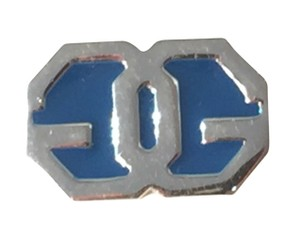 Givenchy Givenchy GG Silver and Blue Enamel Pin