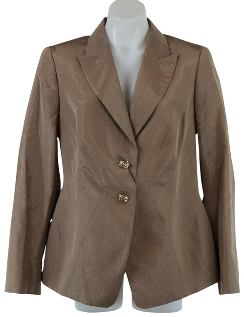 Item - Brown Metallic 44/14 Blazer Size 14 (L)