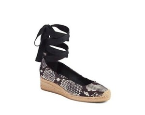 Tory Burch grey and black snakeskin Wedges