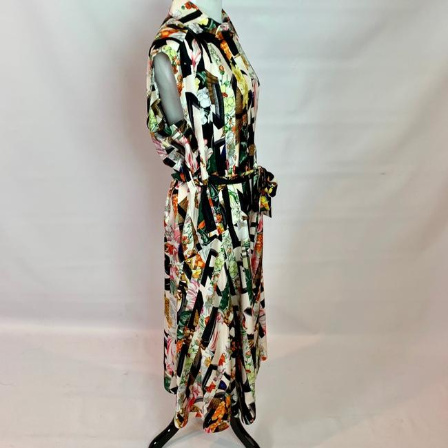 Ivory Multi Maxi Dress by Burberry Image 3