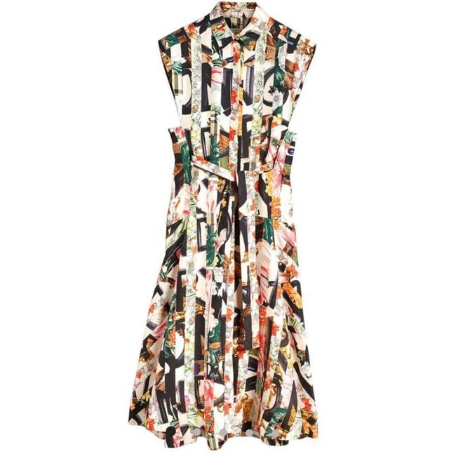 Ivory Multi Maxi Dress by Burberry Image 8