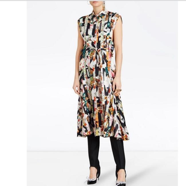 Ivory Multi Maxi Dress by Burberry Image 9