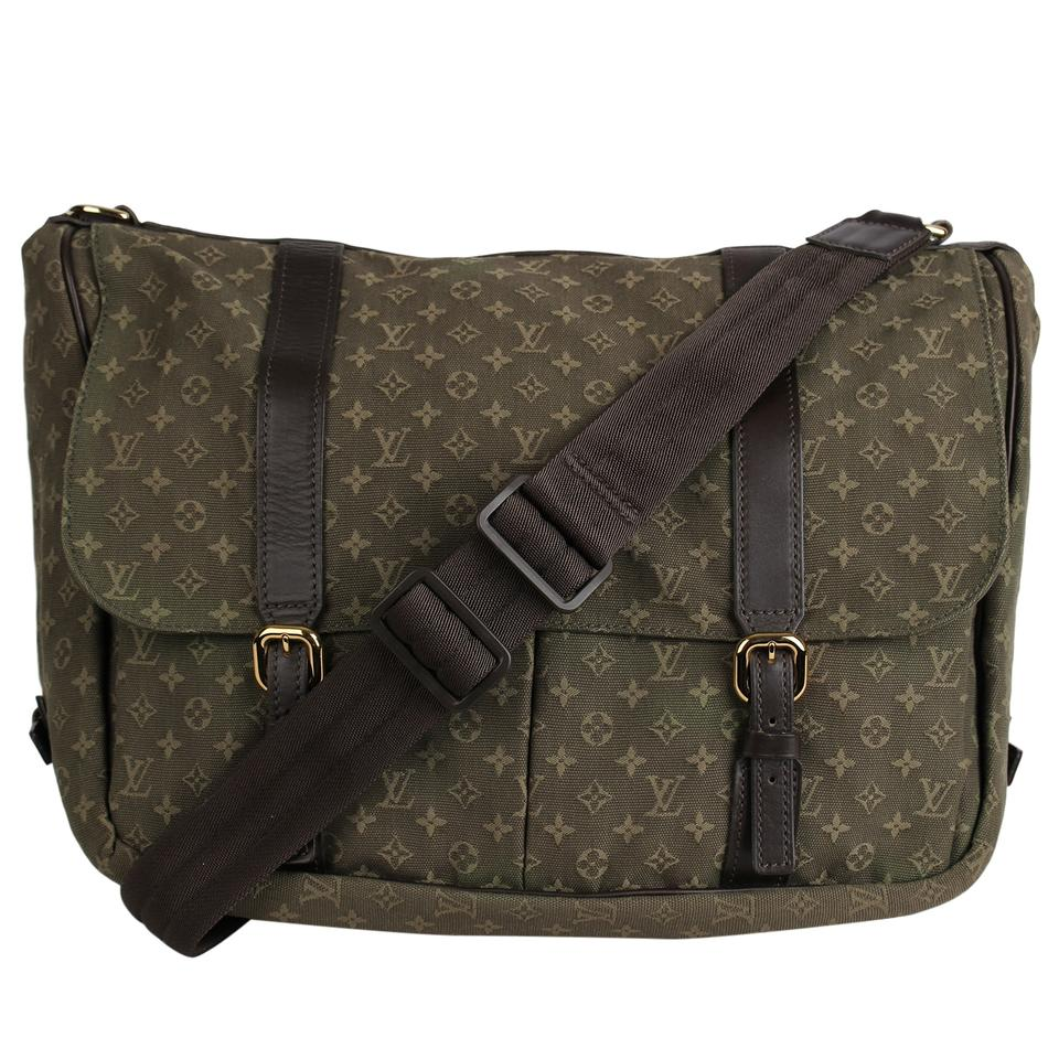 Louis Vuitton Sac a Langer Great Condition Khaki 7586 Green Mini Lin Diaper Bag 60% off retail