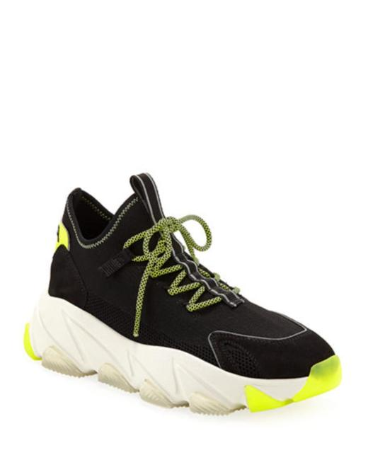 Item - Black and Green Excape Lace-up Sock Sneakers Size US 9 Regular (M, B)