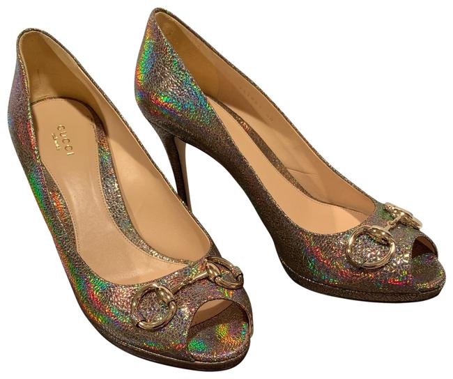 Item - Multi Color Horsebit Iridescent Heels Pumps Size EU 40 (Approx. US 10) Regular (M, B)