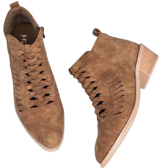 Item - Brown Braided Vegan Leather Boots/Booties Size US 8.5 Regular (M, B)