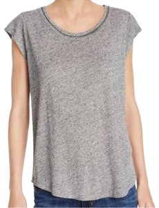 Soft Joie T Shirt Gray and Silver