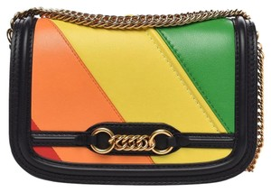 Burberry Link Chain Evening Rainbow Shoulder Bag