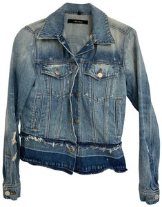 J Brand Distressed Womens Jean Jacket
