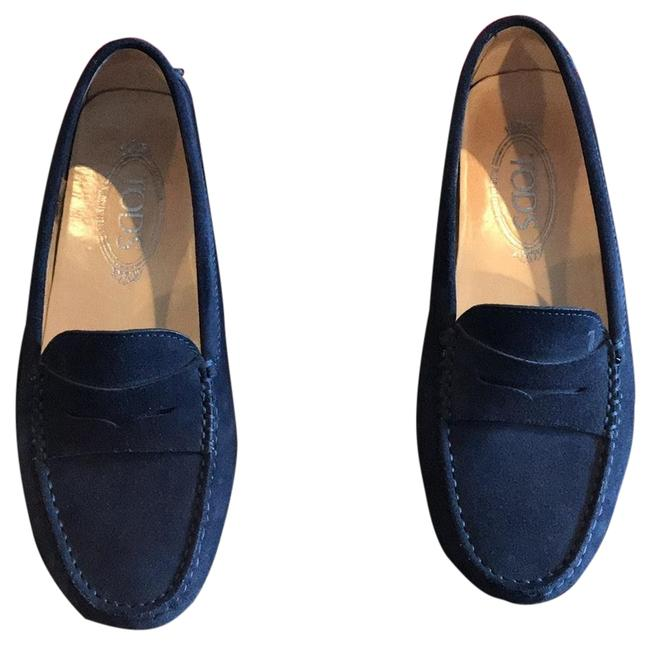 Item - Navy Blue Penny Driving Loafers Flats Size US 7.5 Regular (M, B)