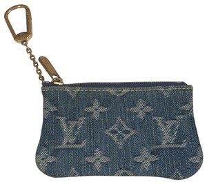 Louis Vuitton Monogramm Denim Pochette Kure Coin Purse key chain