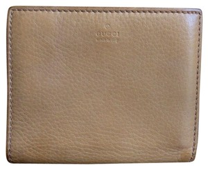 Gucci Vintage GUCCI Brown Leather Snap Bifold Bamboo Kiss-lock Wallet 108652
