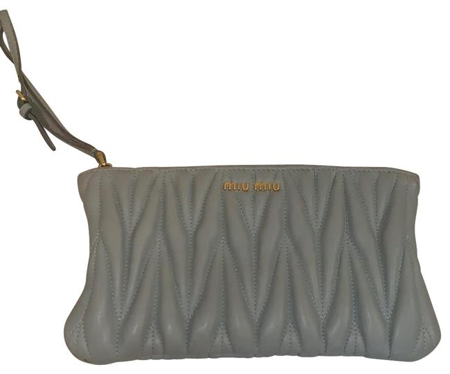 Item - Zipper Purse Mint Green Leather Wristlet