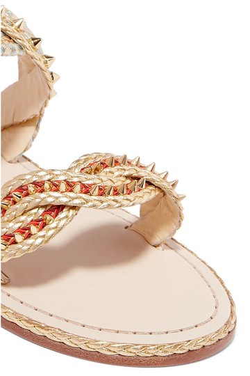 Christian Louboutin Normandie gold, natural Sandals Image 1