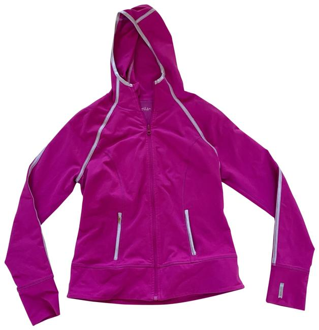 Item - Pink Silver Like New Zipup Jacket M Activewear Outerwear Size 8 (M)